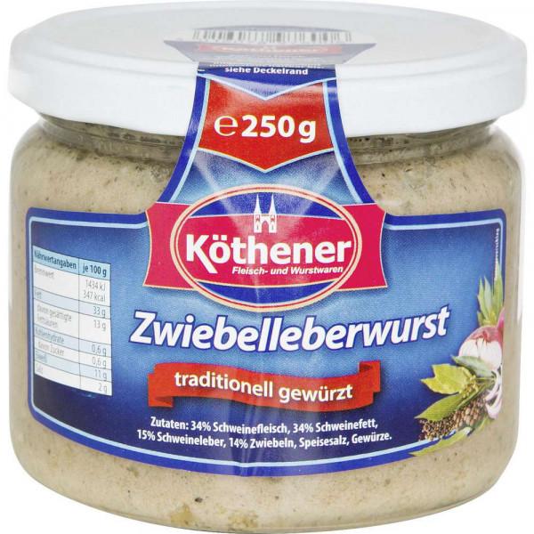Zwiebelleberwurst, traditionell gewürzt