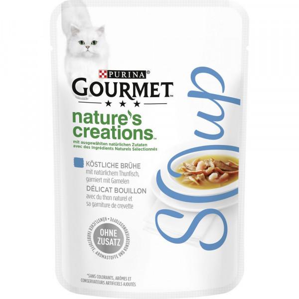 Katzenfutter Gourmet Crystal Soup, Thunfisch/Shrimps