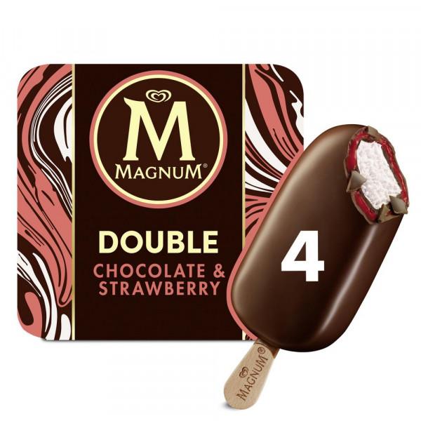 "Stieleis ""Magnum Double"", Chocolate & Strawberry"