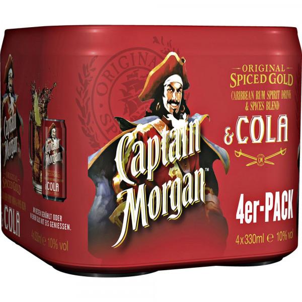 Captain & Cola 10% (4 x 1.32 Liter)