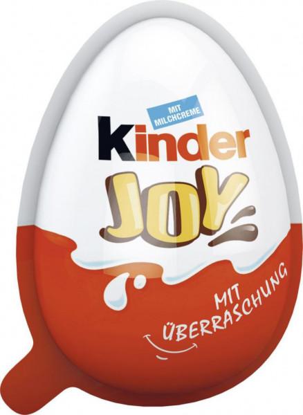 """Ei """"Joy"""" gefüllt mit Schokoladencreme und zwei knusprigen Konfekten"""