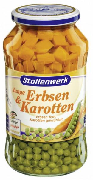 Junge Erbsen & Karotten (gewürfelt)