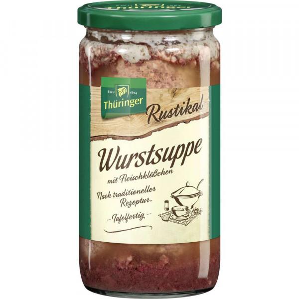Thüringer Wurstsuppe mit Fleischklößchen