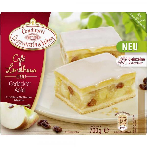 """Blechkuchen """"Café Landhaus"""", gedeckter Apfel"""