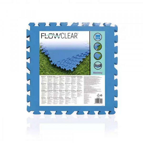 "Pool-Bodenschutzfliesen-Set ""Flowclear"", 50x50 cm, blau"