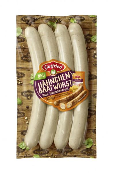 Hähnchen-Bratwurst, mit Käse