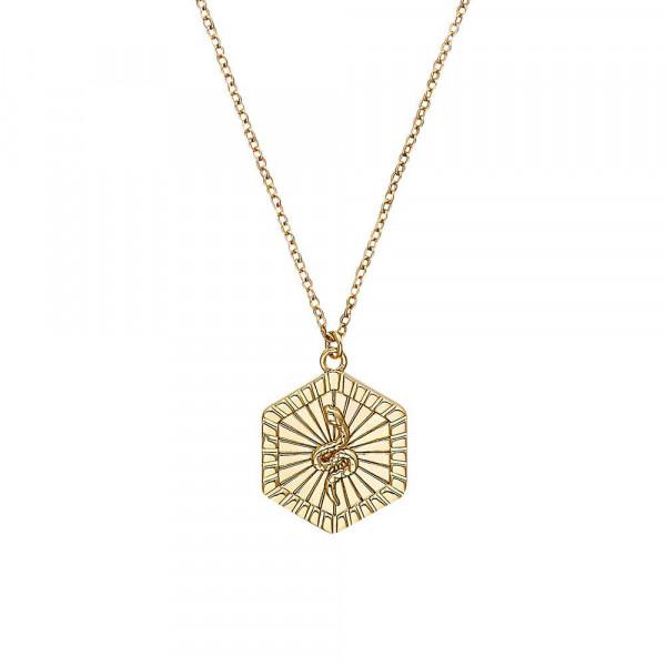 Damen Halskette mit Anhänger aus Silber 925, vergoldet (4056874027144)