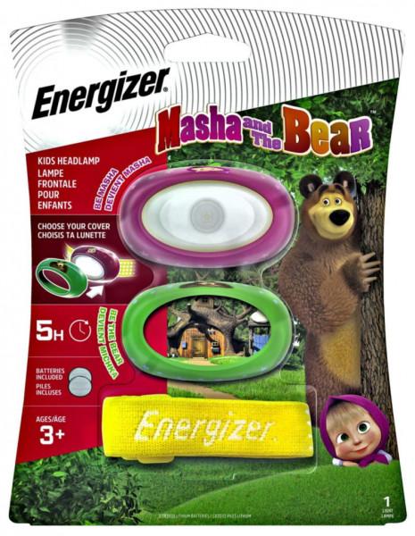 Masha & Bear New Kids Headlamp, 20 Lumen