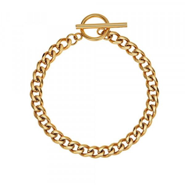 Damen Armband aus Edelstahl, vergoldet (2029995)