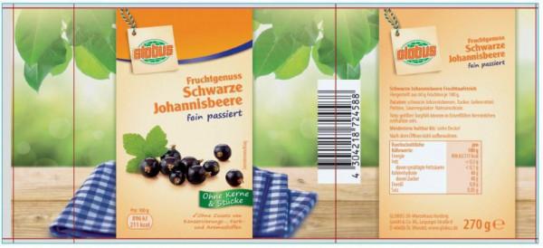 """Fruchtaufstrich """"Fruchtgenuss"""", schwarze Johannisbeere"""