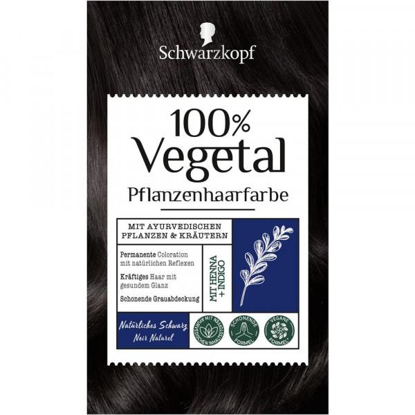 """Pflanzenhaarfarbe """"Vegetal"""", natürlich Schwarz"""
