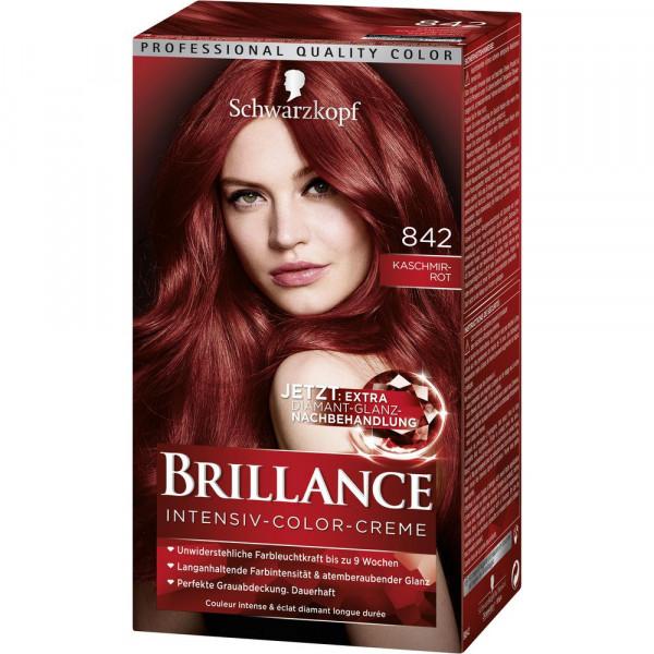 "Haarfarbe ""Brillance"", 842 Kaschmirrot"