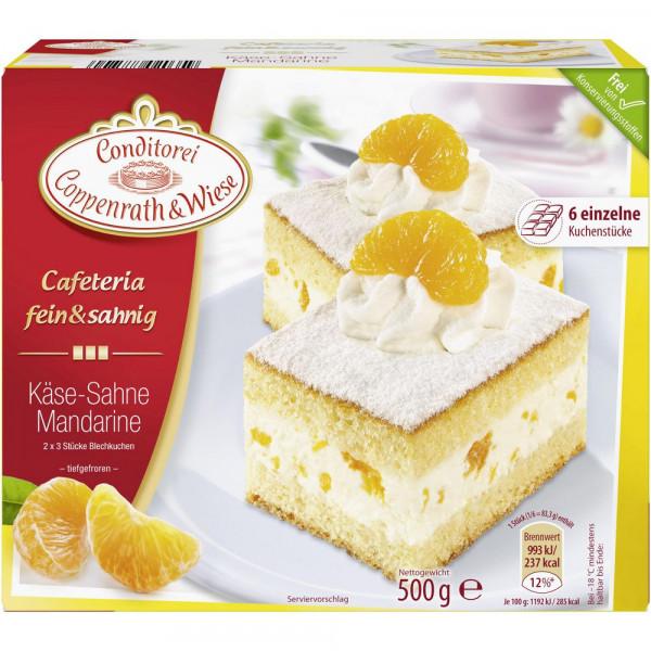Fein&Sahnig Kuchenschnitten, Mandarine-Sahne, tiefgekühlt