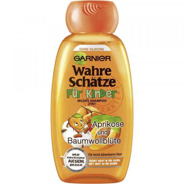 """Shampoo """"Wahre Schätze Kinder"""", 2 in 1 Aprikose/Baumwollblüte"""
