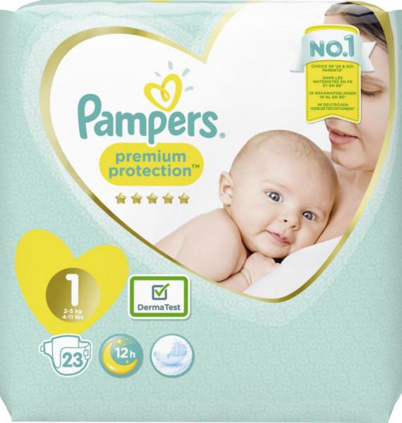 Windeln Premium Protection Gr. 1 Newborn, 2-5kg