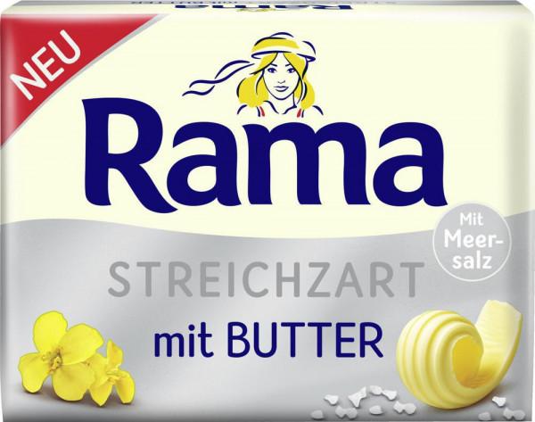Streichzart, mit Butter und Meersalz