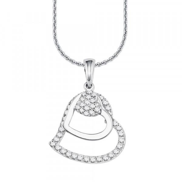 Damen Halskette aus Silber 925 mit Zirkonia (4020689082575)