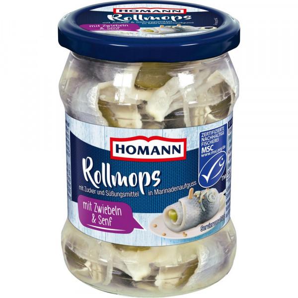 Rollmops mit Zwiebeln & Senf
