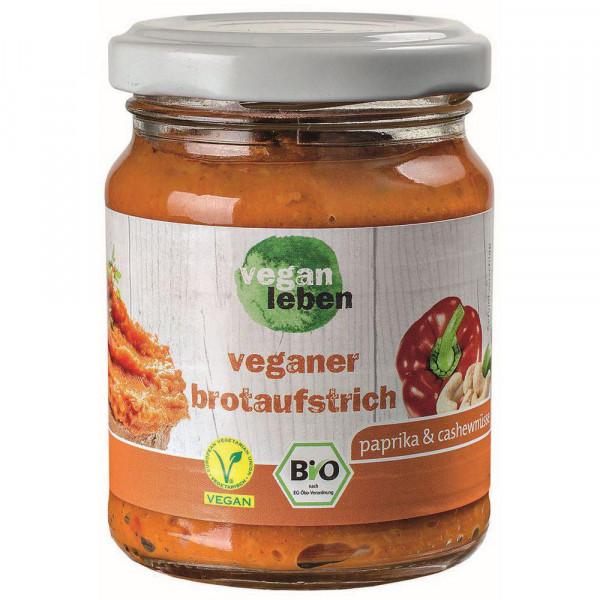 Bio Veganer Brotaufstrich, Paprika-Cashewkern