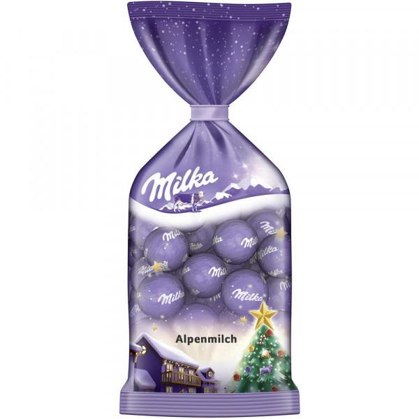 Schokoladen-Weihnachtskugeln, Alpenmilch