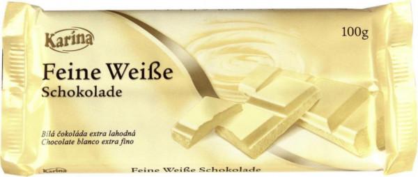 Tafelschokolade, Feine Weiße