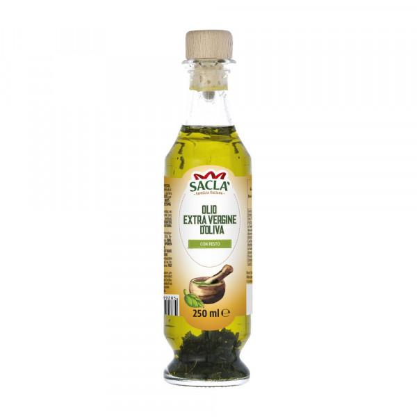 Natives Olivenöl mit Pesto