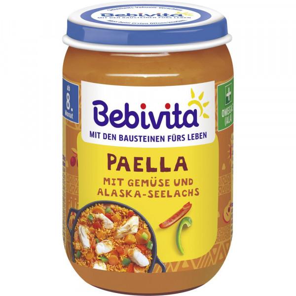 Babynahrung Menü, Paella/Gemüse/Alaska-Seelachs