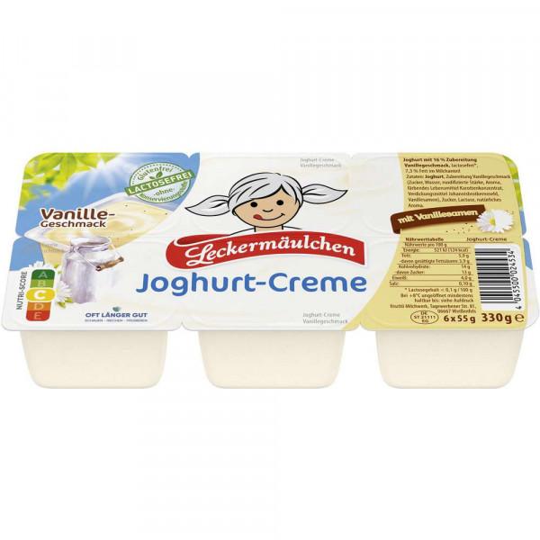 Joghurt-Creme, Vanille, 6 x 55 g