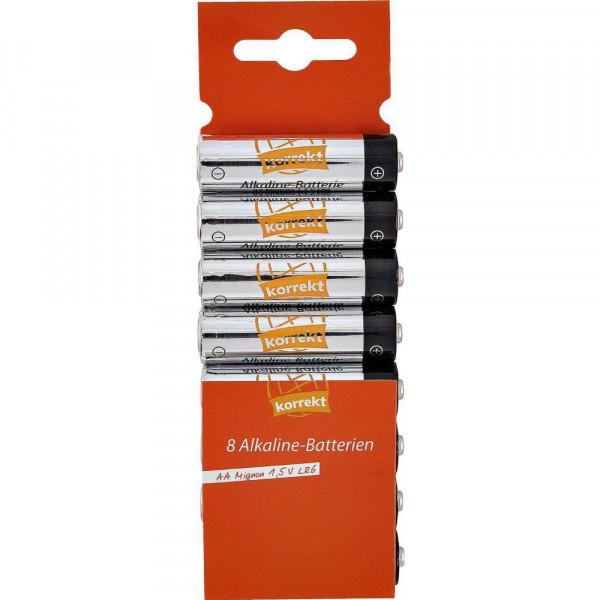 Mignon Batterien LR6 AA, Alkaline
