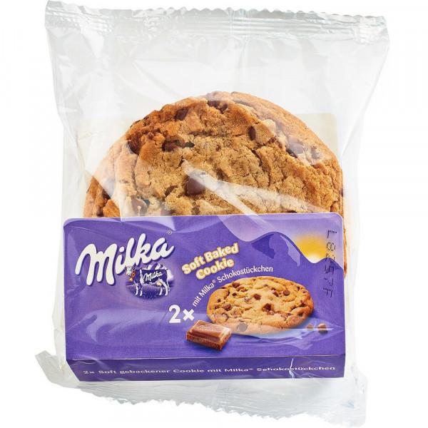 Kekse, soft gebacken, mit Schokostückchen