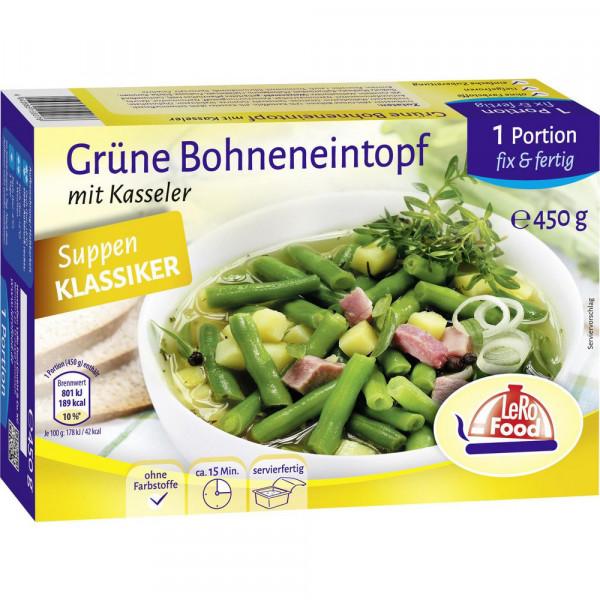 Grüne Bohneneintopf mit Kasseler