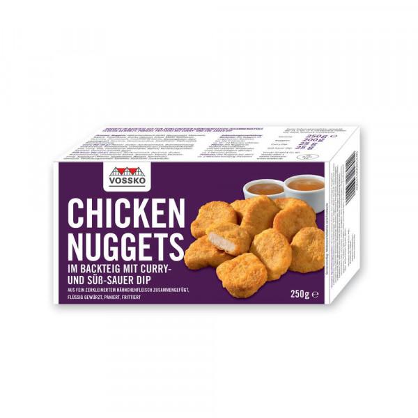 Chicken Nuggets, Curry- & Süß-Sauer-Dip
