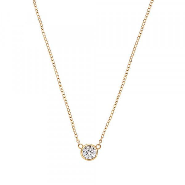 Damen Halskette aus Silber 925 mit Zirkonia, vergoldet (4056866113947)
