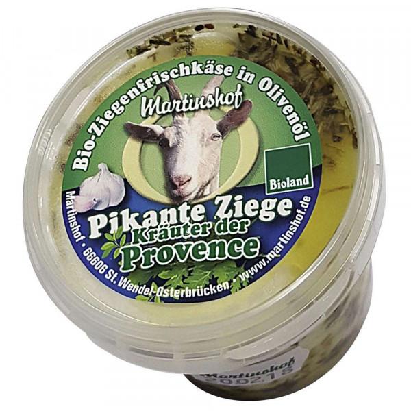 """Bio Ziegenfrischkäse """"Pikante Ziege"""", Kräuter der Provence"""