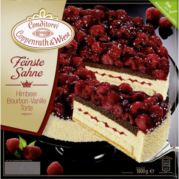 Feinste Sahne Torte Himbeer, tiefgekühlt