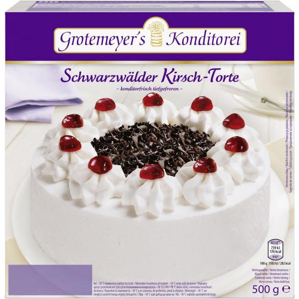 Schwarzwälder-Kirsch-Torte, tiefgekühlt