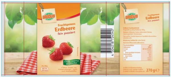 """Fruchtaufstrich """"Fruchtgenuss"""", Erdbeere"""