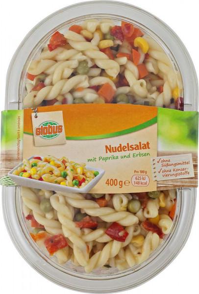 Nudelsalat mit Paprika & Erbsen