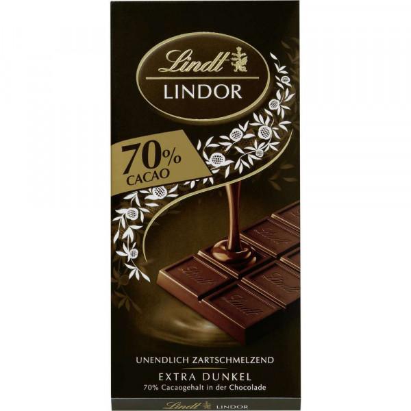 """Tafelschokolade """"Lindor"""", extra dunkel 70%"""