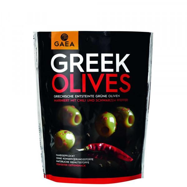 Griechische Oliven, Chili/Pfeffer