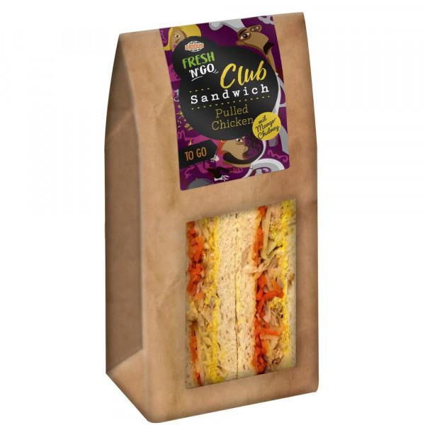 Club Sandwich Pulled Chicken