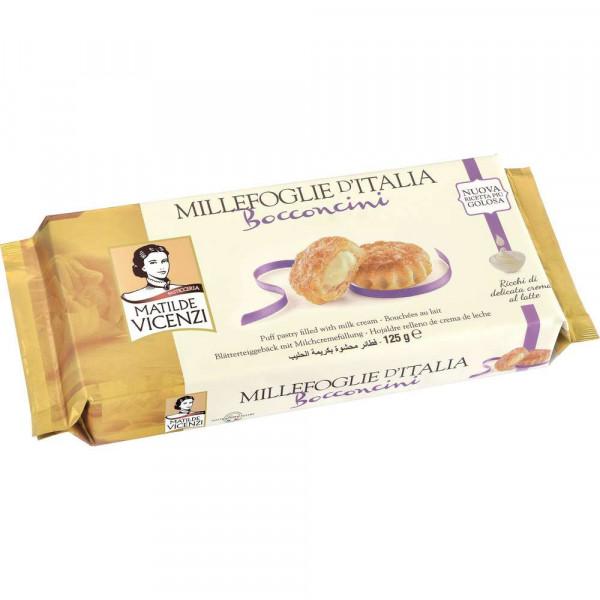 """Blätterteig-Kekse """"Millefoglie D'Italia Bocconcini"""" mit Milchfüllung"""
