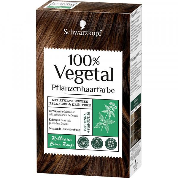 "Pflanzenhaarfarbe ""Vegetal"", Rotbraun"