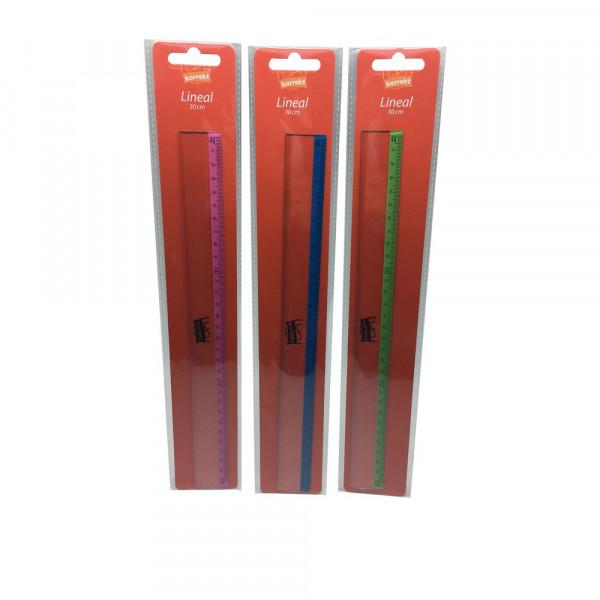 Lineal 30 cm, verschiedene Farben