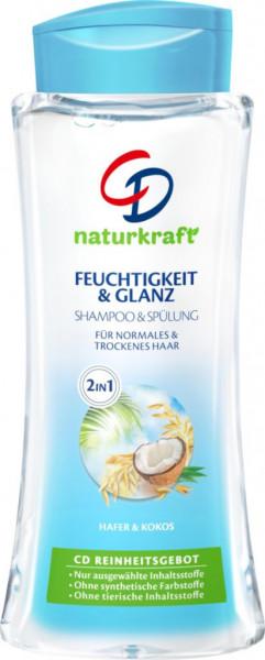 """Shampoo & Spülung """"Feuchtigkeit & Glanz"""", Hafer + Kokos"""