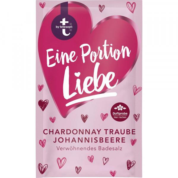 """Badesalz """"Eine Portion Liebe"""", Chardonnay Traube & Johannisbeere"""