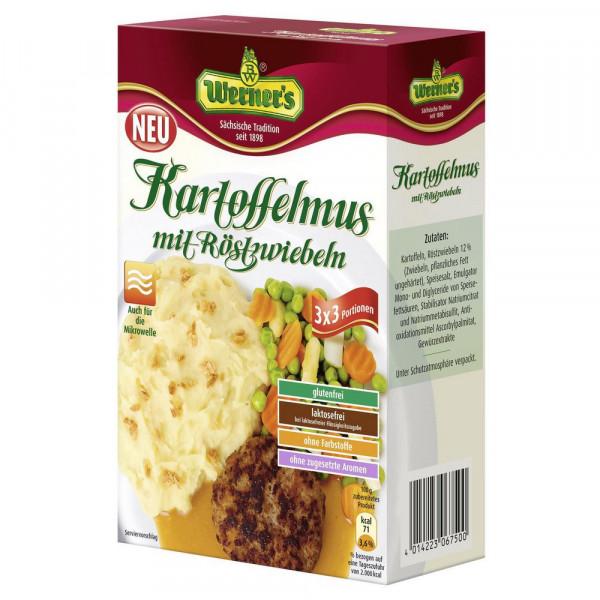 Kartoffelmus mit Röstzwiebeln