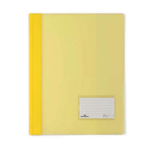 Schnellhefter, A4, Kunststoff, gelb