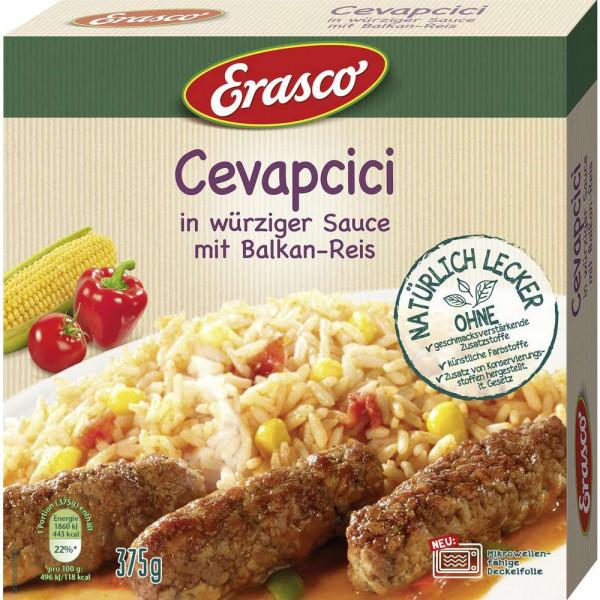 Cevapcici in würziger Sauce mit Balkanreis