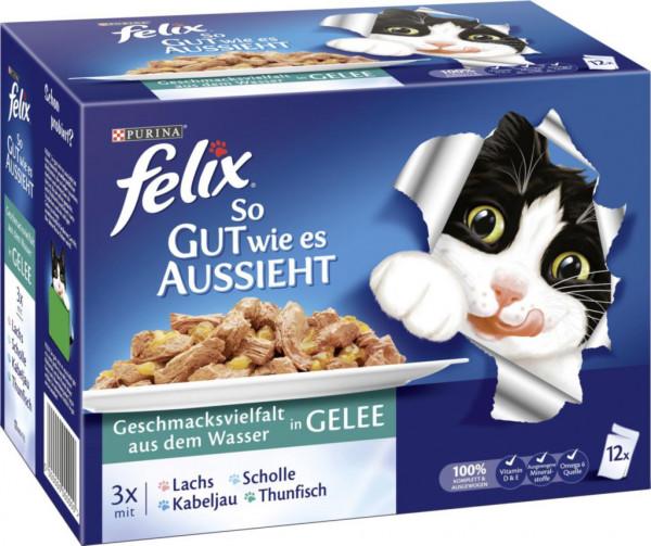 """Katzenfutter Felix """"So gut wie es aussieht"""", Fisch"""